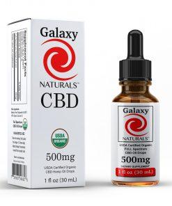 Galaxy Naturals 500mg CBD Bottle