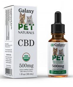 Galaxy Naturals 500mg Pet CBD Bottle